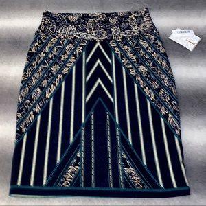 🆕 LuLaRoe Elegant Teal, Navy, Gold Cassie Skirt